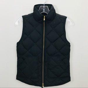 J. Crew Down Filled Black Puffer Vest XXS